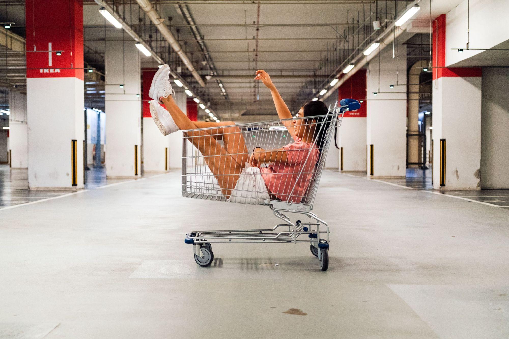 Photo of an Ikea shopping car