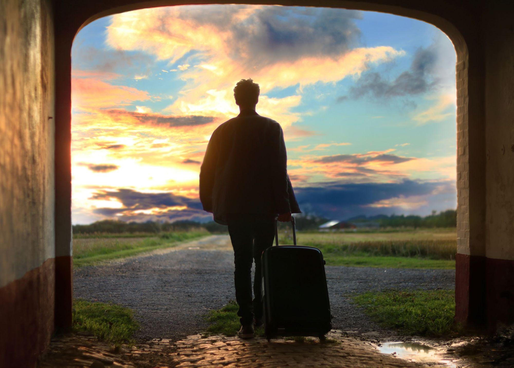 Photo of man luggage